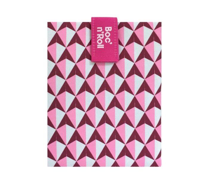 Boc'n'Roll sandwich wrapper Tiles pink