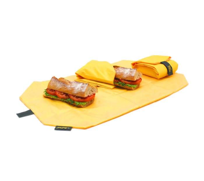 Boc'n'Roll sandwich wrapper Square yellow