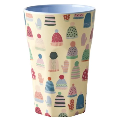 Rice melamine cup tall Mittens&Beanies