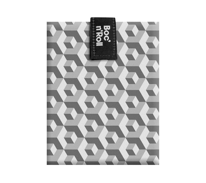 Boc'n'Roll sandwich wrapper Tiles grey