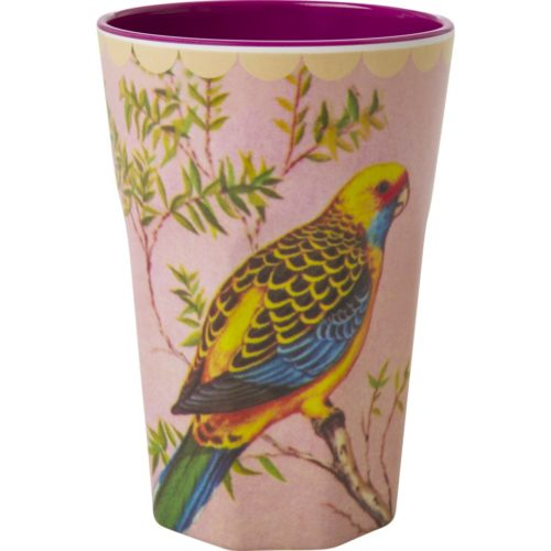Rice melamine cup tall Budgie