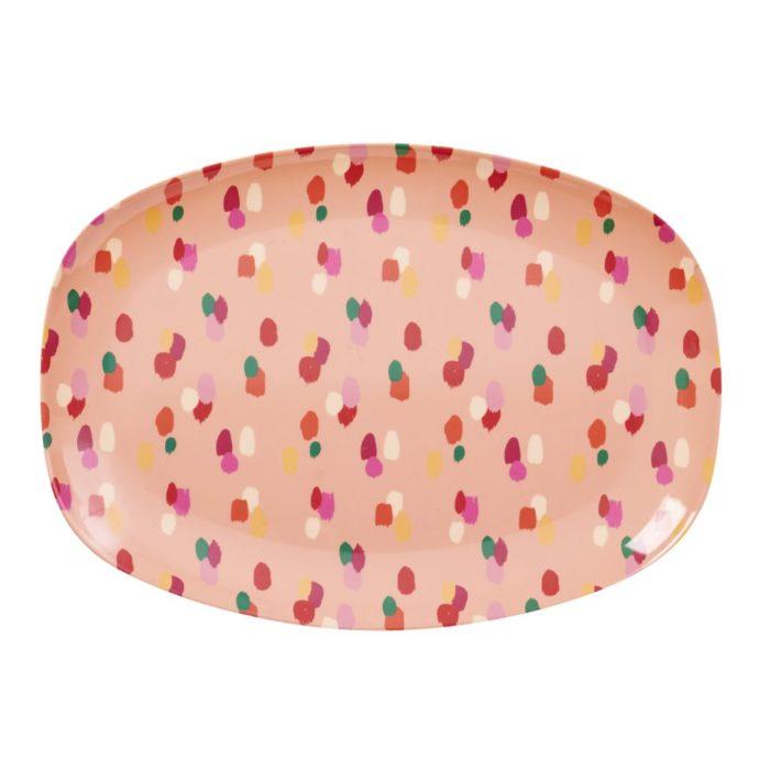 Rice rectangular plate dapper dot