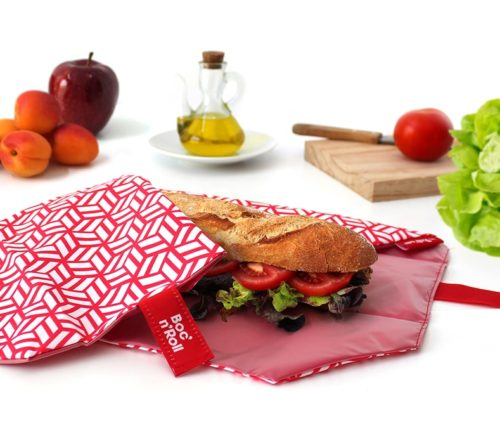 Boc'n'Roll sandwich wrapper Tiles red