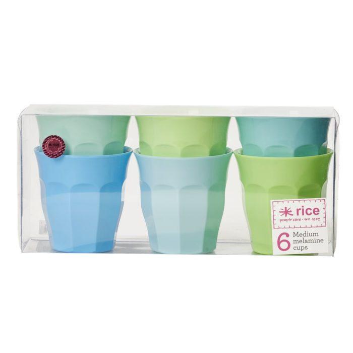Rice cup set/6 kleuren MBGXC