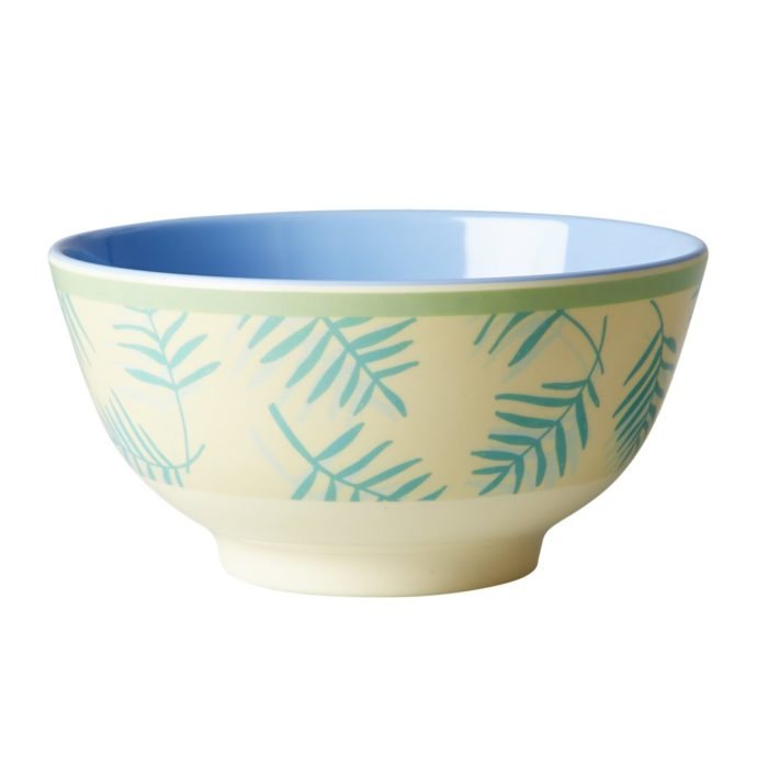 Rice melamine bowl leav