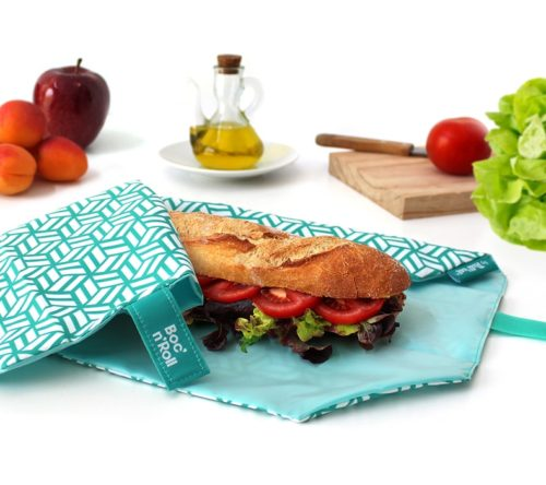 Boc'n'Roll sandwich wrapper Tiles green