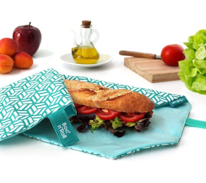 Boc'n'Roll sandwich wrapper Tiles green
