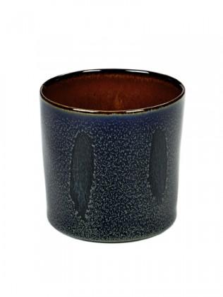 ALG beker cylinder hoog darkblue/rust