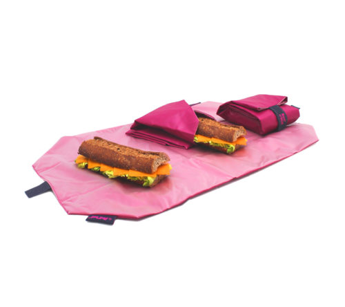 Boc'n'Roll sandwich wrapper Square pink