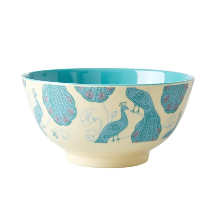 Rice melamine bowl peacock