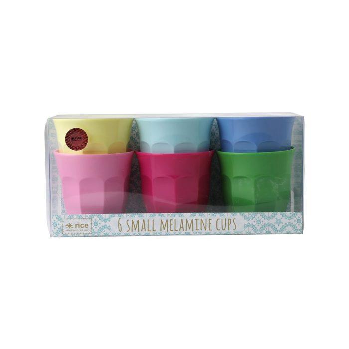 Rice cup set/6 kleuren SCLAXC
