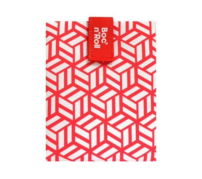 Boc'n'Roll sandwich wrapper Tiles red