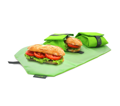 Boc'n'Roll sandwich wrapper Square green