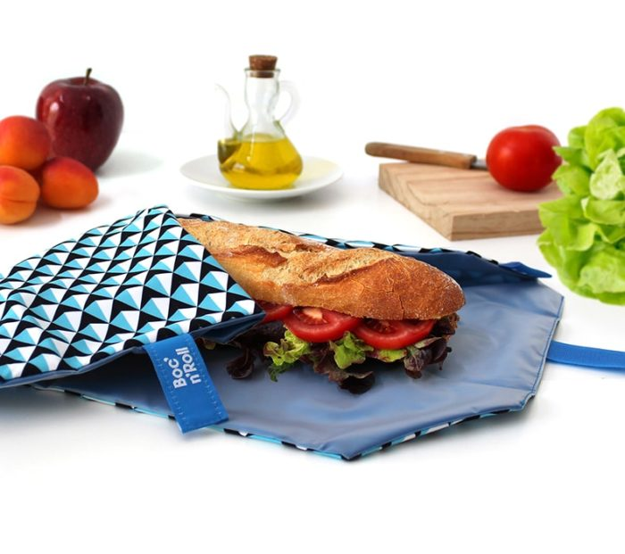 Boc'n'Roll sandwich wrapper Tiles blue