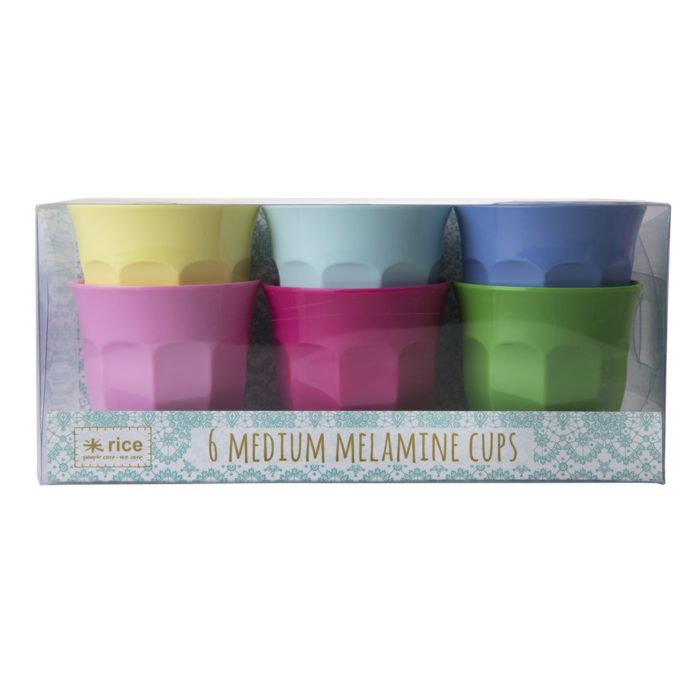 Rice cup set/6 kleuren MCLAXC