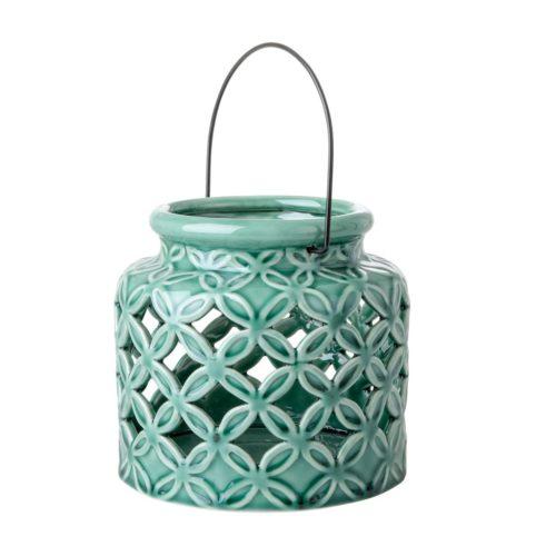 Rice ceramic Lantern M green