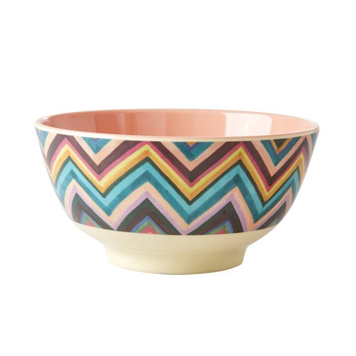 Rice melamine bowl zigzag