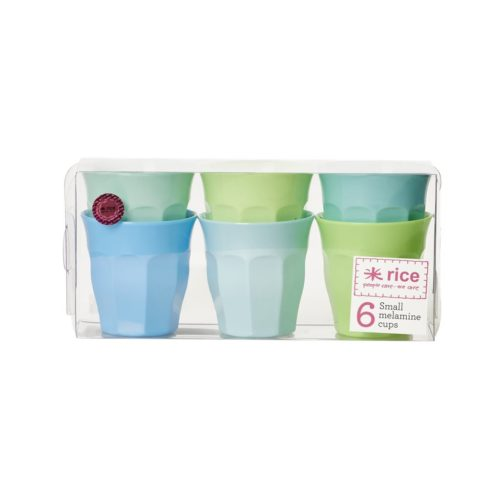 Rice cup set/6 kleuren SBGXC