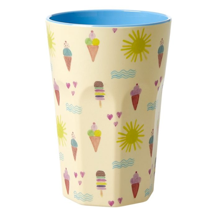 Rice melamine cup tall Summer