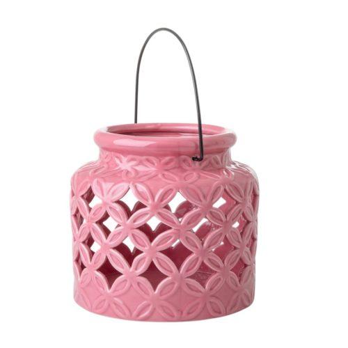 Rice ceramic Lantern M pink