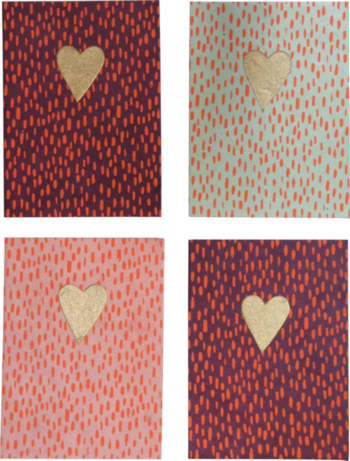RtS Postcard set/4 heart