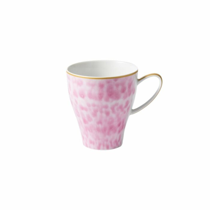 Rice porcelain mug L glaze bubblegum print 360ml