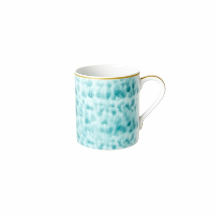 Rice porcelain mug glaze jade print 350ml