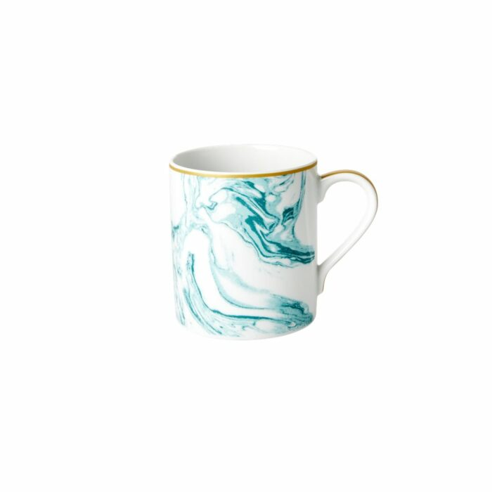 Rice porcelain mug marble print jade 350ml