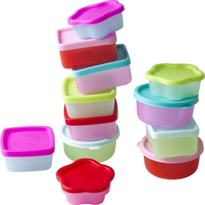 Rice mini foodboxes / 12 pastel