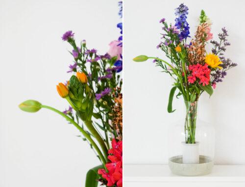 Bloemen in het Sagaform Greenhouse