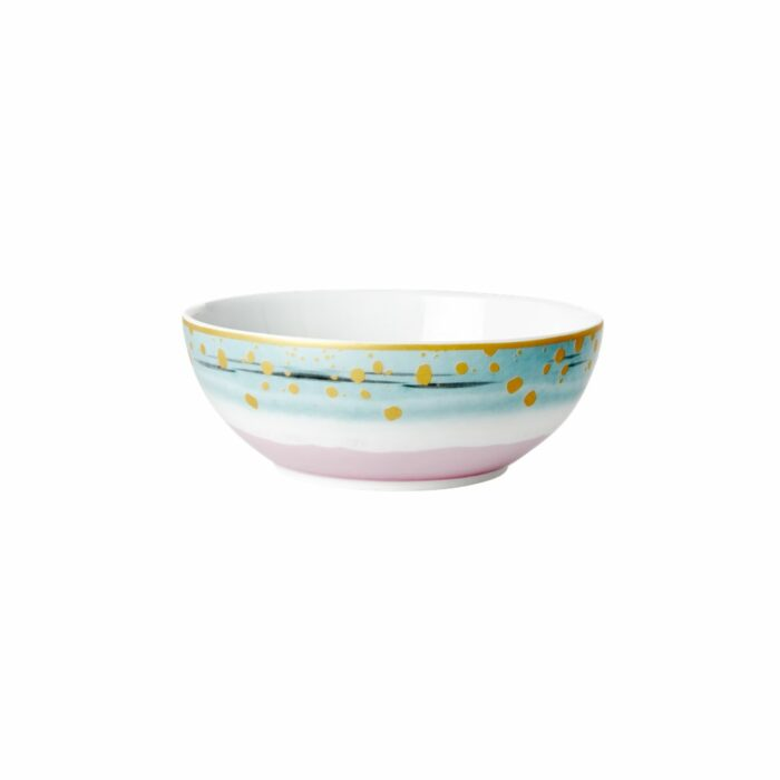 Rice porcelain breakfast bowl dipdye print 15x6cm
