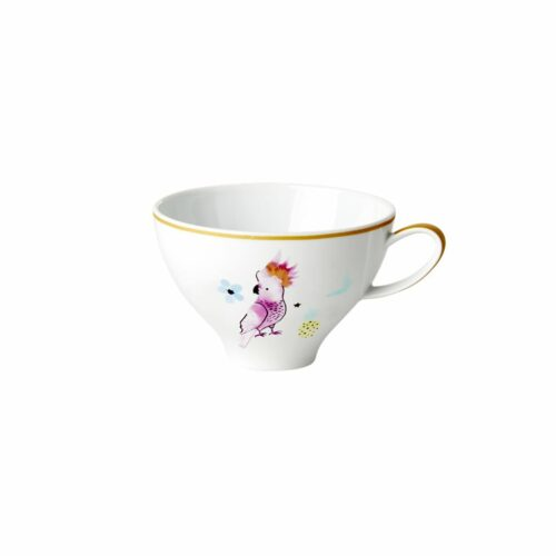 Rice porcelain teacup cockatoo 310ml