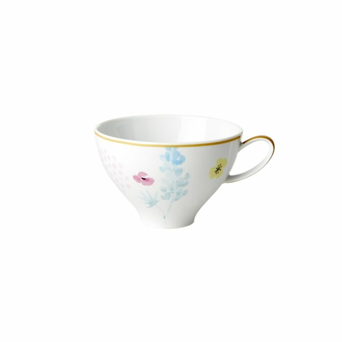 Rice porcelain teacup blue lupin 310ml