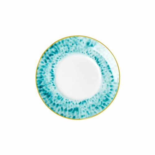 Rice porcelain dessert plate glaze jade