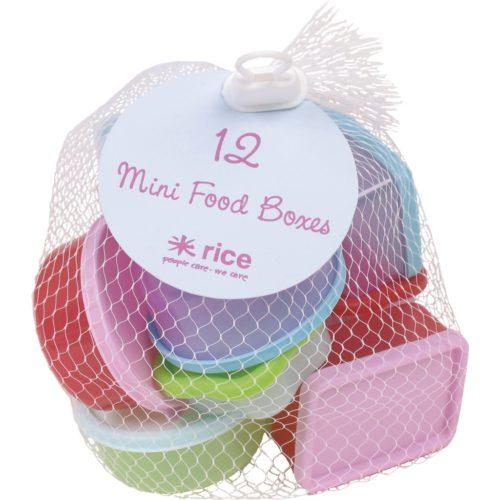Rice mini foodboxes / 12 pastel