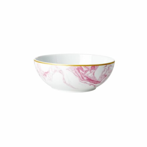 Rice porcelain breakfast bowl marble bubblegum 15x6cm