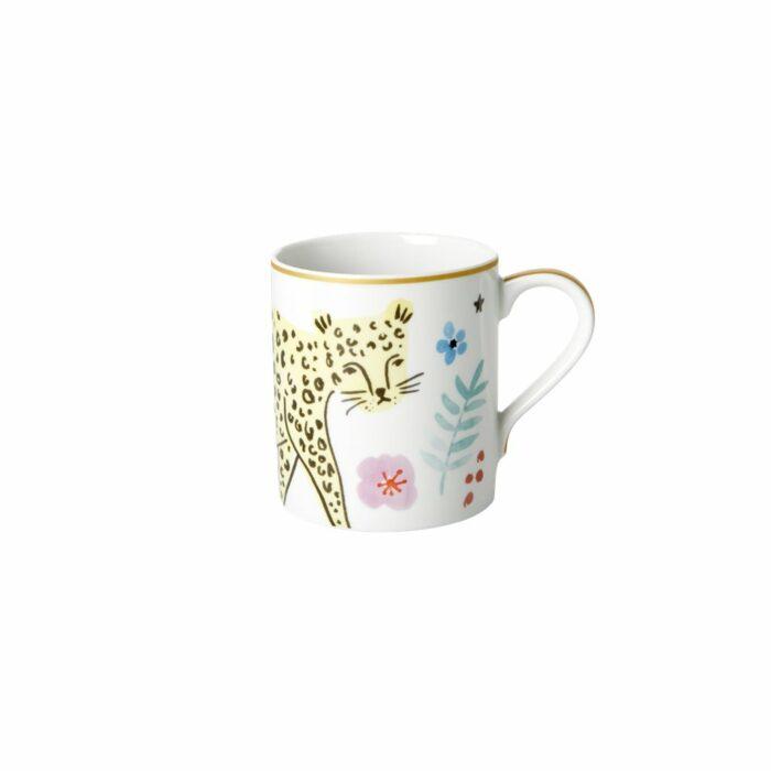 Rice porcelain mug wild leopard print 350ml