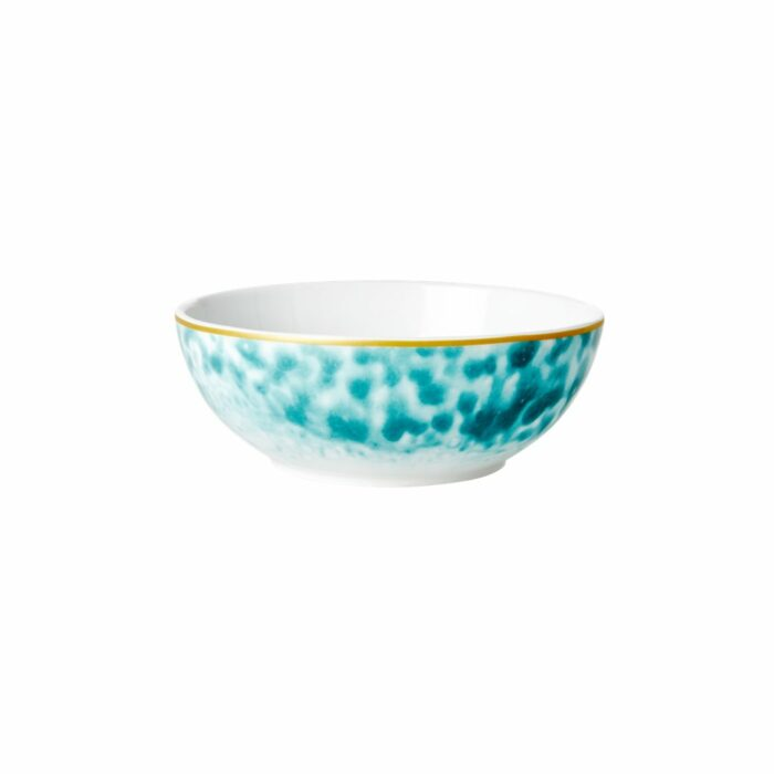 Rice porcelain breakfast bowl glaze jade 15x6cm
