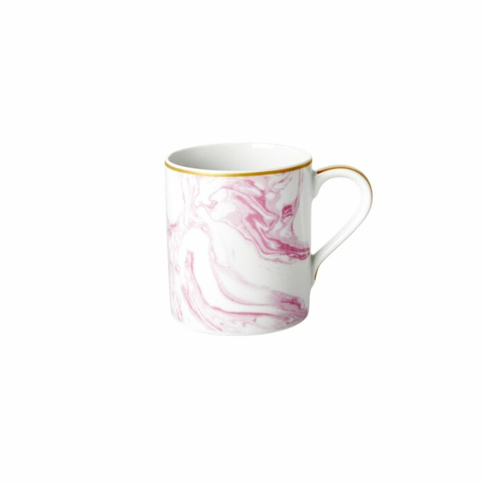 Rice porcelain mug marble print bubblegum 350ml