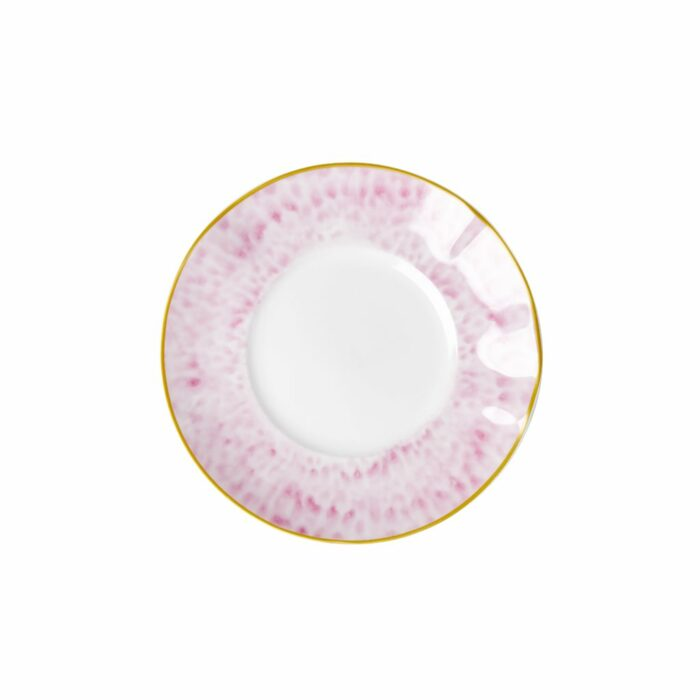 Rice porcelain dessert plate glaze bubblegum