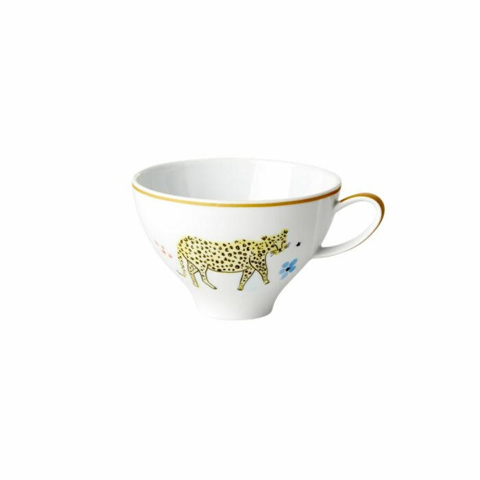 Rice porcelain teacup wild leopard 310ml