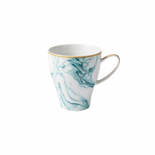 Rice porcelain mug marble jade print 360ml