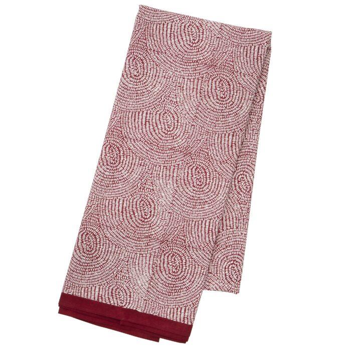 Tafelkleed Zen red 1.6x3m katoen