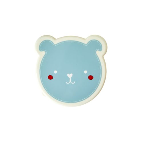 Rice lunchbox set/4 animal blauw