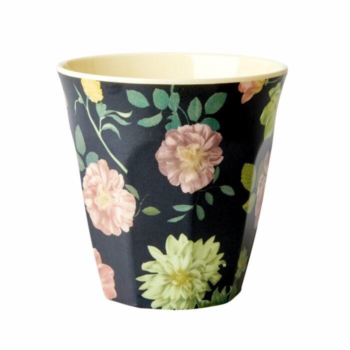 Rice cup M Dark Rose