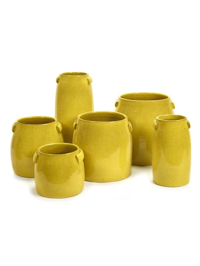 Tabor bloempot S yellow 22x19cm