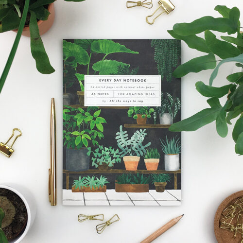Notebook Plant Shop A5 dotted