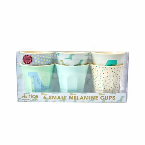 Rice cup Small set/6 print dino