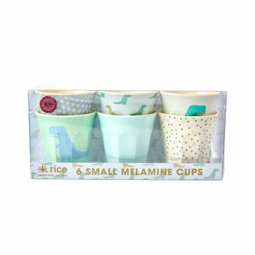 Rice cup Small set/6 print dino