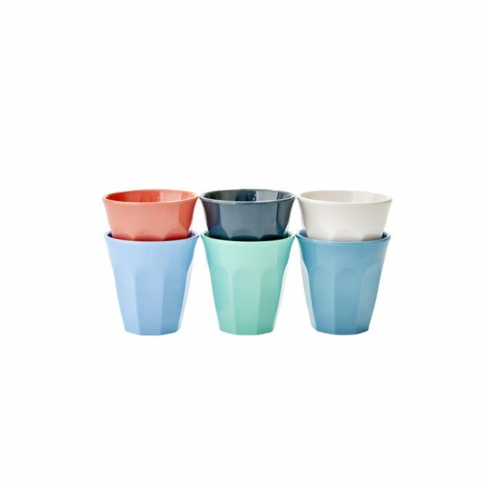 Rice cup set/6 kleuren EHAP21